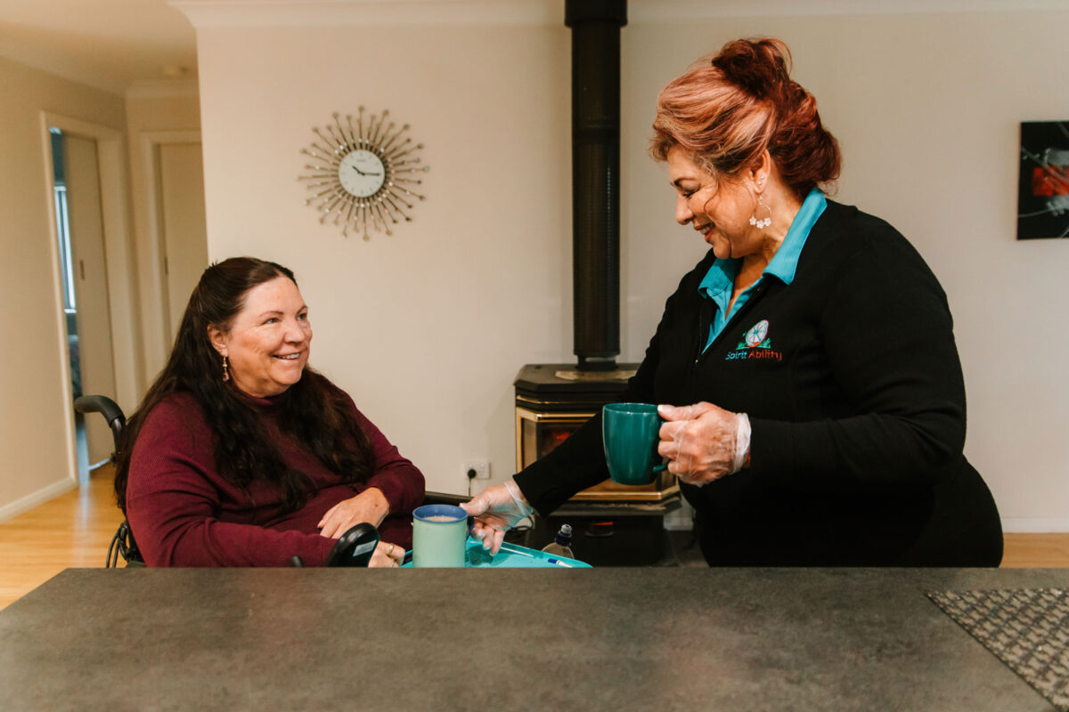 SpiritAbility can arrange a friendly support worker to check-in to make sure a client is well and stable
